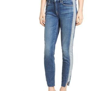 7 for All Mankind Side Panel Insert Ankle Skinny